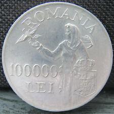 Rumänien 100000 LEI 1946 Silber in Münzkapsel