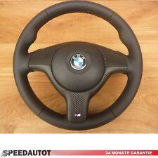! novedad! glates negro de cuero volante BMW e46 m volante con diafragma y airbag