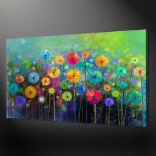 Colorido Abstracto jardín paisaje arte de Pared de tela impresión Foto Flores de primavera