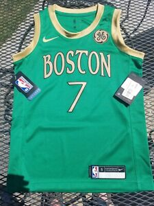 Rare NWT $85 Nike Jaylen Brown 2019 City Edition Boston Celtics Jersey Youth S 8