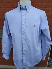 "Mens Polo Ralph Lauren Lilac Shirt Long Sleeve Button Down Size 16.5 Large 44"""