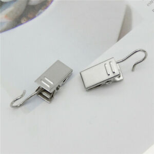 20 Pack Metal Hanging Clips Heavy Duty Clothes Curtains Hooks Hangers Laundry