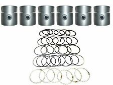 6 NEW Pistons with Pins & Ring Set .020 oversize 1954-1964 Willys JEEP 226 ci