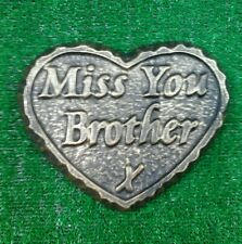 Brother  large GRAVE SIDE TRIBUTE GARDEN MEMORIAL HANDMADE NATURAL STONE HEART