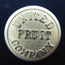 Orig Old UNITED FRUIT COMPANY Nautical Ship Boat Button ornate gilt S Appel NY