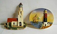 2 x Lighthouse Fridge Magnets Pottery or Plaster