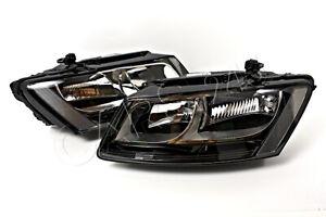 AUDI Q5 2012- Facelift Halogen Headlights Front Lamps PAIR Left + Right