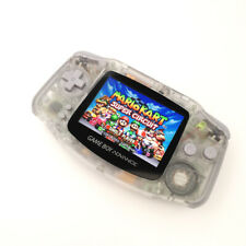 Nintendo GBA Game Boy Advance Console with iPS Backlight LCD MOD -Clear White