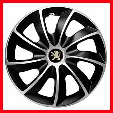 "4x16"" enjoliveurs enjoliveurs de roues fit peugeot 508 208 407 308 16"" set complet"