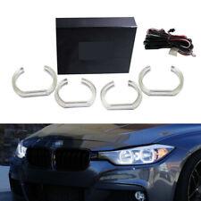 White DTM Style Square LED Angel Eye Kit For BMW F30 3 Series Halogen Headlights
