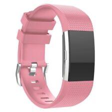 Fitbit Cargo 2 Correa De Silicona Doble Correa Portadora Band-Pink-FB0017
