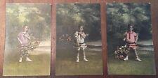 Set of 3 Vintage Rosh Hashanah Postcards