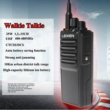 Walkie Talkies Leixen 25W 10Km Uhf 400-480Mhz Handheld Two-Way Radios Military