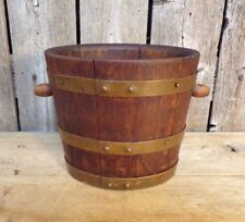 Geraud Lafitte ~ M.O.F. 1933 ~ Small Oval Bucket ~ Oak & Copper
