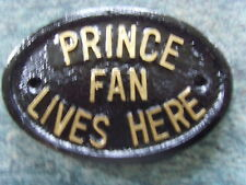 PRINCE FAN PLAQUE SIGN PURPLE RAIN PAISLEY PARK PARADE 1999 DOVES CRY