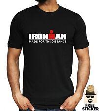 IRONMAN T-shirt Triathlon Gym Training Bodybuilding Sport Workout Iron Mens Tee
