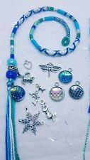 hair wrap, hair braid, mermaid, turtle,Tibetan silver, 31/35cm, plait in or clip