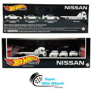 2021 Hot Wheels Premium NISSAN Team Set White (4 cars) Walmart limited