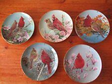 "5 Bob Travers Danbury Mint Plates ""Cardinals For All Seasons"" Limited Edition"