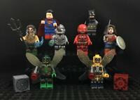 Justice League Set 8x Minifigures, DC Superheroes Superman, Batman, Aquaman