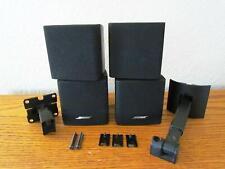 2 Bose Acoustimass Lifestyle Double Cube Surround Speakers Black Two + Brackets