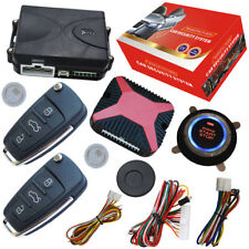 car rfid remote keyless entry system with slim start stop button bypass chip key