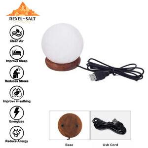 USB Himalayan Salt Lamp color changing LED Night Healing Ionizing Table Lamp CE