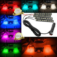 4*9 LED Car Light Interior Atmosphere SUV Floor Strip Lamp Blue Color Cig Charge