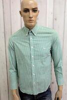HARMONT&BLAINE Camicia Uomo Taglia S Cotone Shirt Chemise Casual Manica Lunga