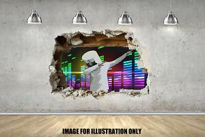 Marshmello Dab 3D Smash Gamer Floss Childrens Wall Sticker Fort Gaming Decal EDM
