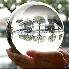 110mm+Stand Asian Rare Natural Quartz Clear Magic Crystal Healing Ball Sphere