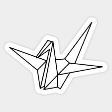 Origami Crane Lifestyle Decal Decor Car Bumper Laptop Vinyl Sticker