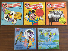 Vintage Disneyland Records and Book Sets Lot of 10