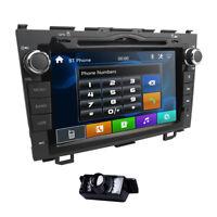 "8"" Honda CRV 2007-2011 Head Unit Car GPS Navigation DVD Player Radio Free Camera"