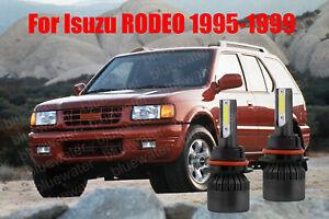LED For RODEO 1995-1999 Headlight Kit 9004 HB1 6000K White Bulbs High-Low Beam