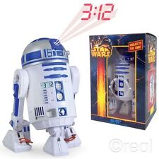 New Star Wars R2-D2 Projection Alarm Clock w/ Sound Posable Legs & Head Official
