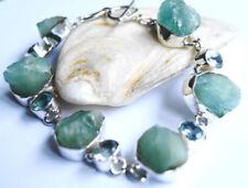Natürliche Armbänder mit Edelsteinen im Schildarmband-Stil aus Sterlingsilber