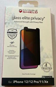 ZAGG Invisibleshield Glass Elite Privacy Screen Protector iPhone 12 / 12 Pro /11