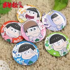 6 PCS Osomatsu San Badges Mr. Osomatsu Brooches Anime Pins Act Cute Style Props