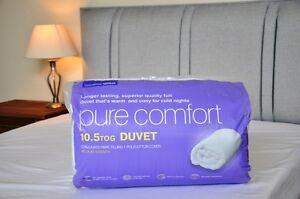 10.5 Tog Duvet for Sweet Dreams Pure Comfort Medium warmth