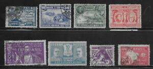 8 Brazil Stamps from Quality Old Antique Album 1922-1932