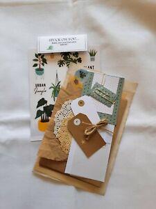 Penpal Kit- Mail Art Envelope Kit-Happy Mail -  Plant Life