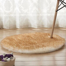 Round Fluffy Rug Anti-Skid Soft Shaggy Floor Carpet Mat Bedroom Home Room Decor