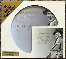 """FRANK SINATRA """"57 IN CONCERT"""" LIMITED EDITION DCC 24KT GOLD CD ARZ-101-2"""