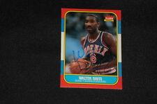 WALTER DAVIS 1986-87 FLEER SIGNED AUTOGRAPHED CARD #23 SUNS