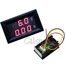 DC 4.5-30V 0-50A Dual Red LED Digital Volt Meter Ammeter Voltage Am Meter