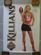Sexy Girl Beer Poster Killians Heather Kozar Football