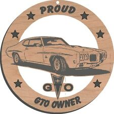 1970 Pontiac GTO Judge Wood Ornament Engraved