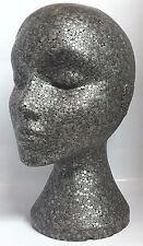 Hembra Maniquí Cabeza Doted para gafas modelo, pantalla de casquillo de la peluca gris de alta calidad