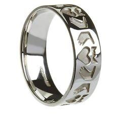 Sterling Silver Men's Friendship Claddagh Ring 7.1mm